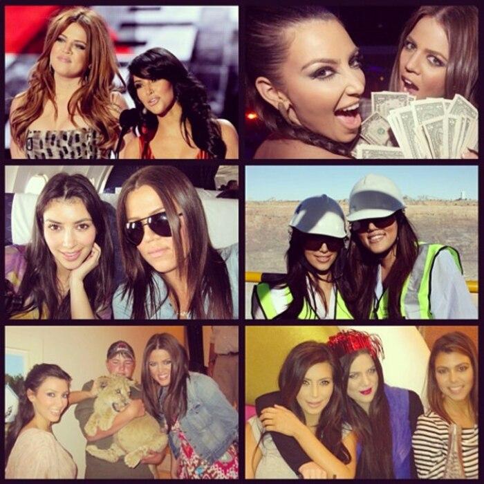 Kim Kardashian, Khloe Kardashian Odom, Instagram, Birthday