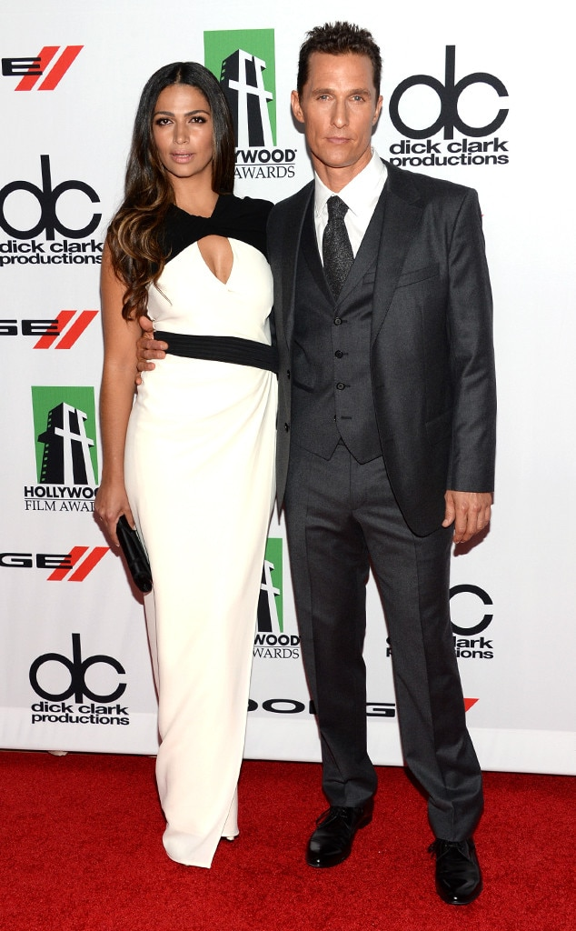 Camila Alves, Matthew McConaughey, Hollywood Film Awards