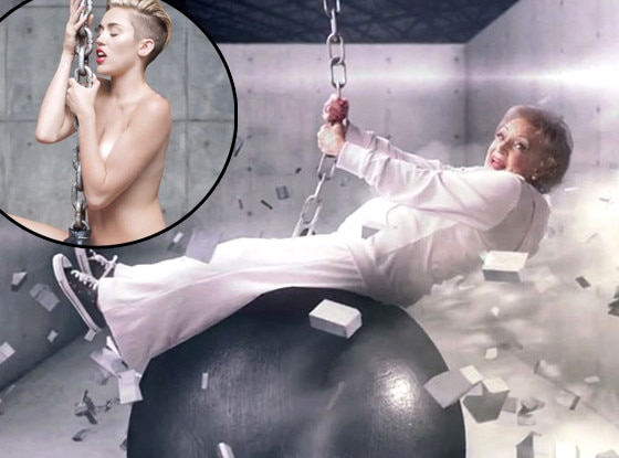 Betty White, Miley Cyrus, Wrecking Ball
