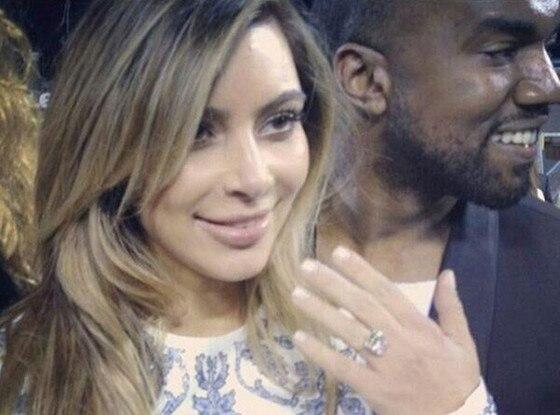 Kim Kardashian, Kanye West, Engagement, Twitter