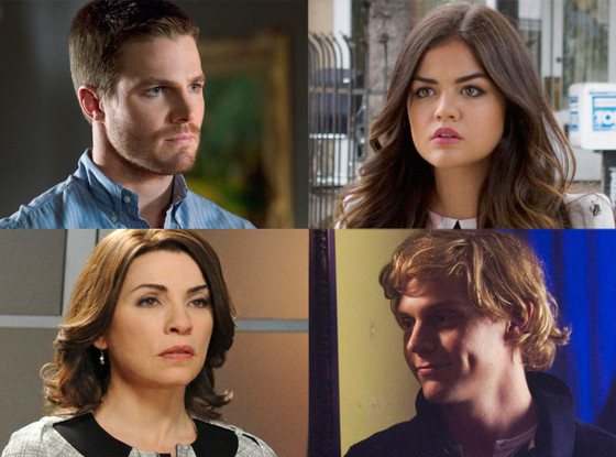 Stephen Amell, Arrow, Julianna Margulies, The Good Wife, Evan peters, American Horror Story Coven, Lucy Hale, Pretty Little Liars