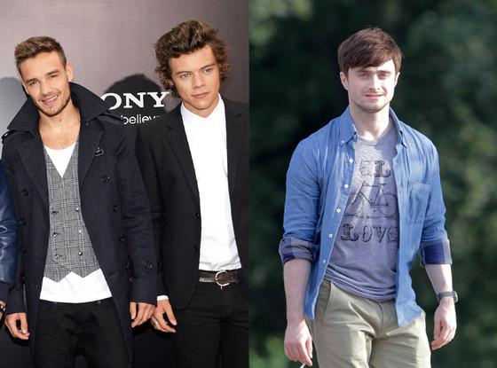 Liam Payne, Harry Styles, One Direction, Daniel Radcliffe