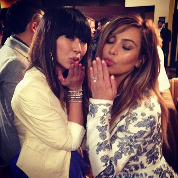 Kim Kardashian, Kanye West, Instagram, Engagement