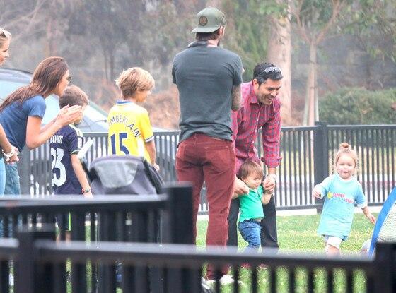 Harper Beckham, Victoria Beckham, David Beckham