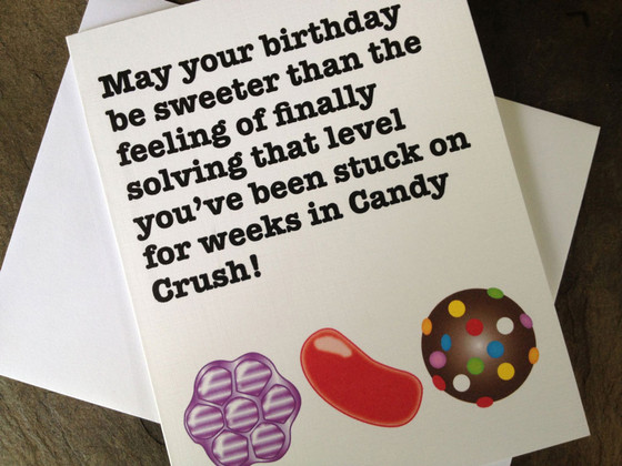 Candy Crush, Birthday Card