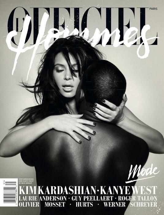 Kim Kardashian, Kanye West, L'Officiel Hommes