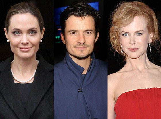 Angelina Jolie, Orlando Bloom, Nicole Kidman