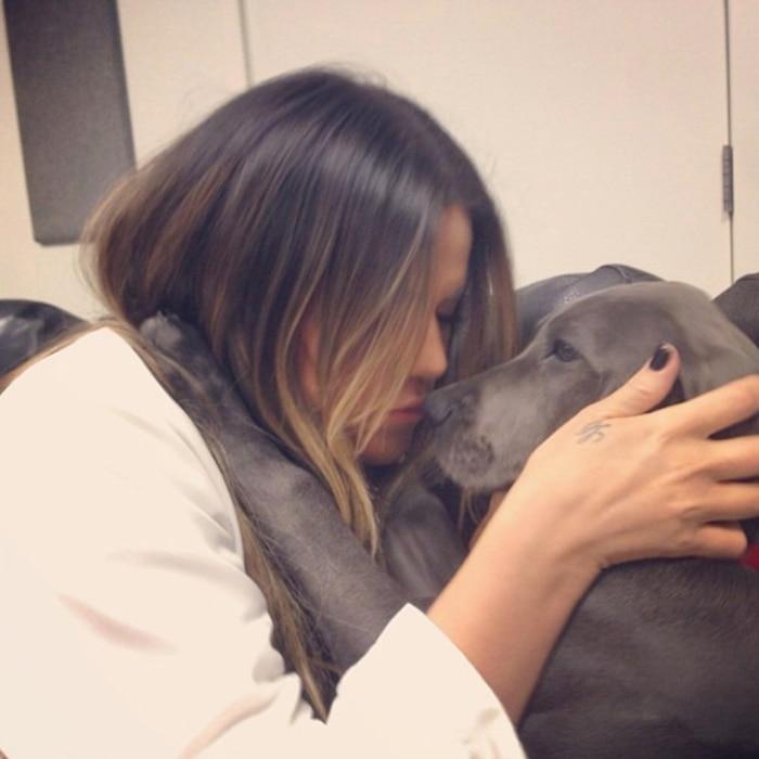Khloe Kardashian Odom, Instagram, Blu, Puppy
