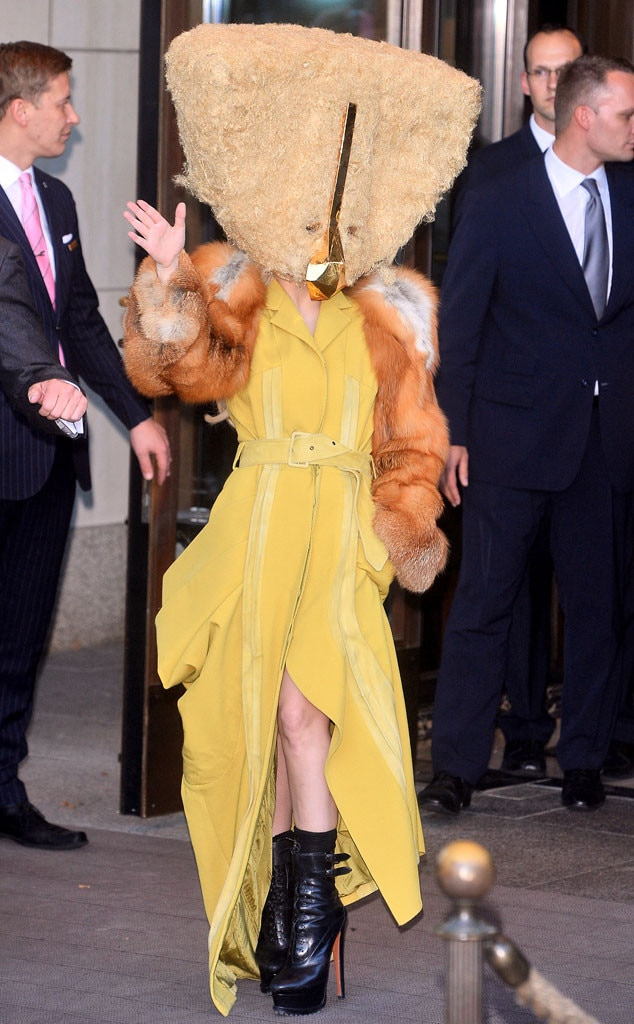 Lady Gaga Wears Bizarre Chicken Mask in Berlin—Check Out ...