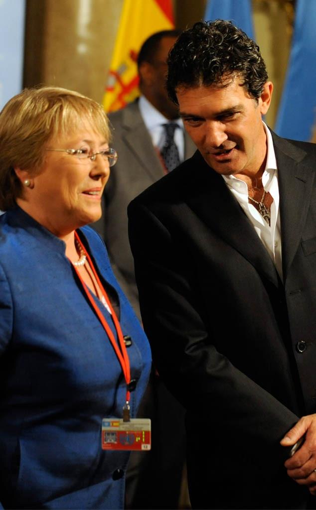 Michelle Bachelet, Antonio Banderas