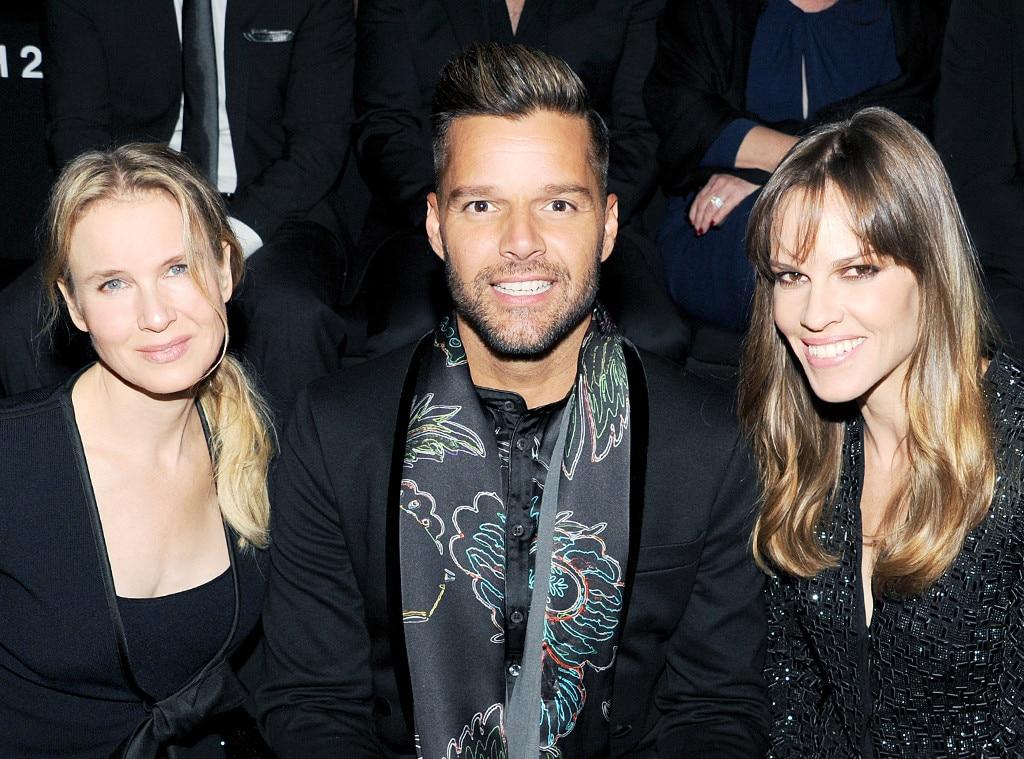 Renee Zellweger, Ricky Martin, Hilary Swank