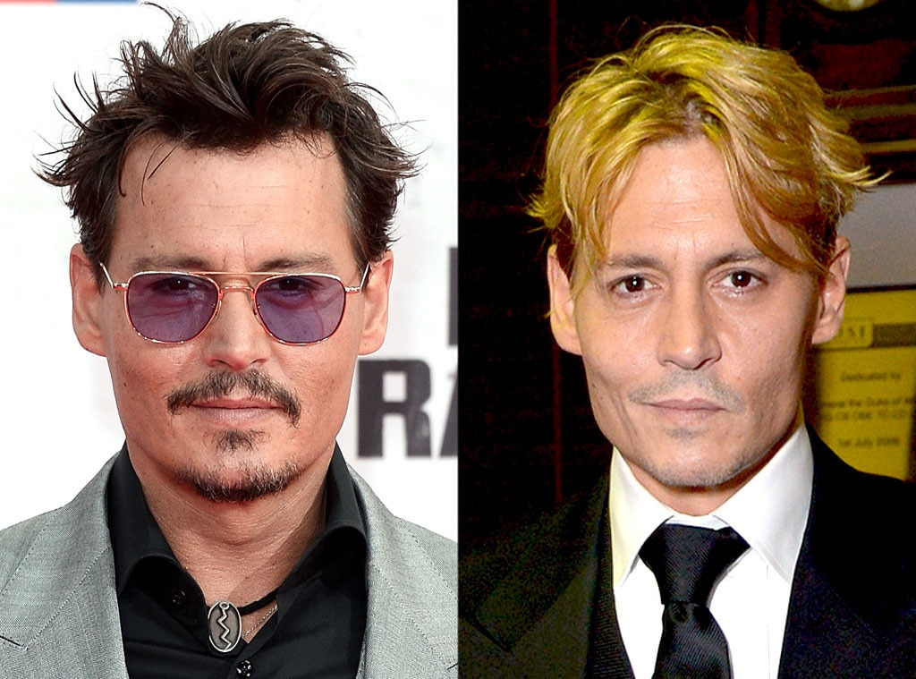 Johnny Depp, Hair