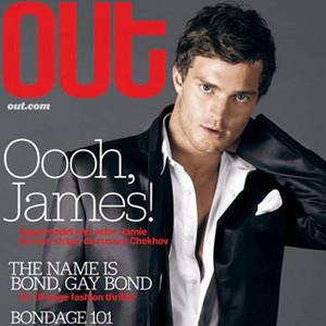 JAMIE DORNAN Out Magazine 11/06 FIFTY SHADES OF GREY MR KISS KISS BANG BANG