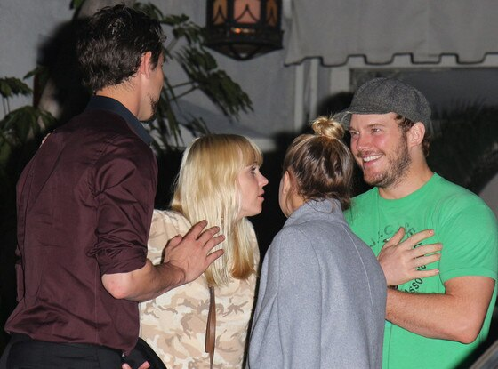 Anna Faris, Kaley Cuoco, Chris Pratt, Ryan Sweeting