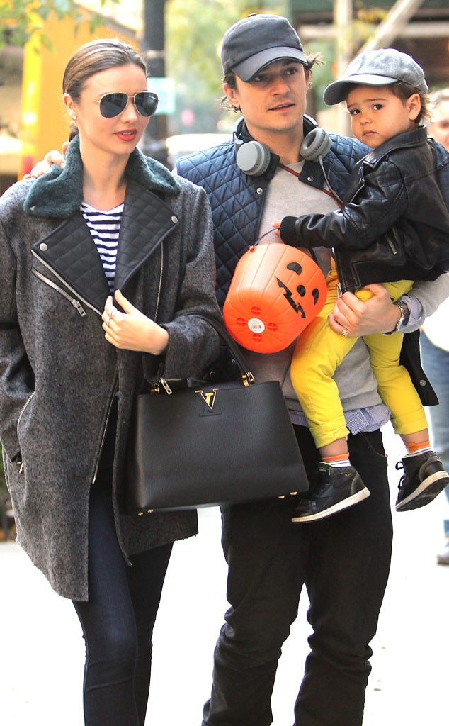 Image: Miranda Kerr and Orlando Bloom with their son Flynn