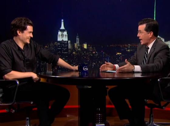Orlando Bloom, The Colbert Report