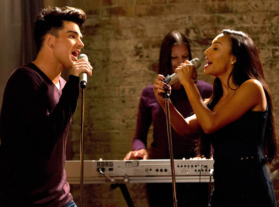 Adam Lambert, Naya Rivera, Glee