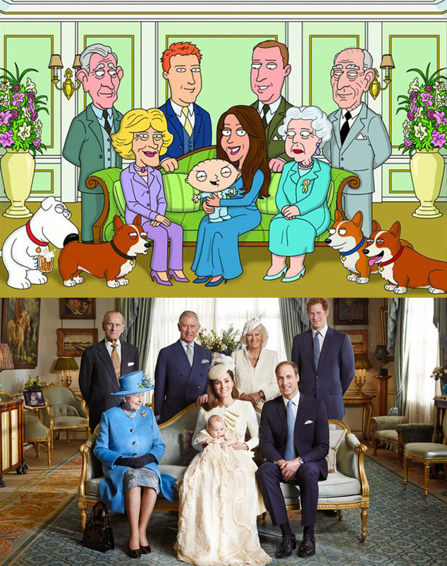 Family Guy, Prince George Christening, Official Portrait