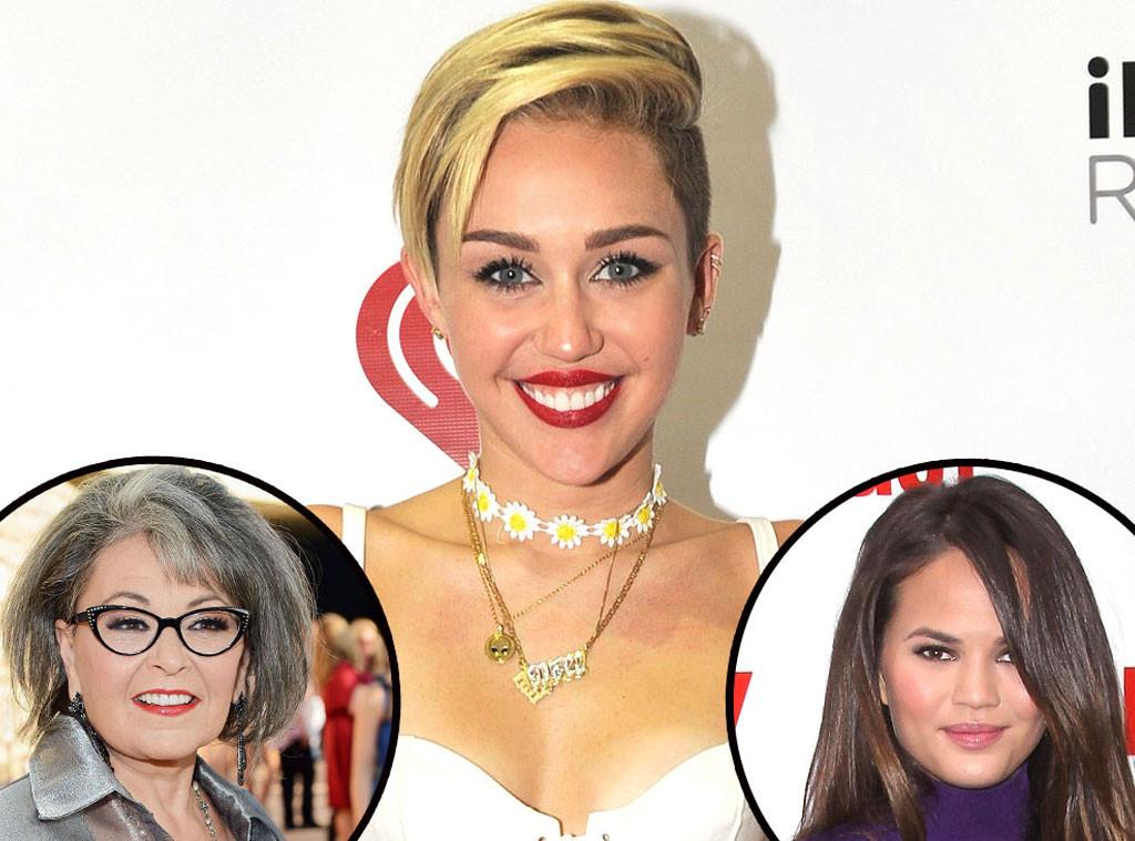 Miley Cyrus, Rozanne Barr, Chrissy Teigen