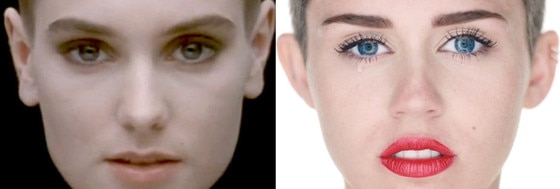 Miley Cyrus, Sinead O'Connor