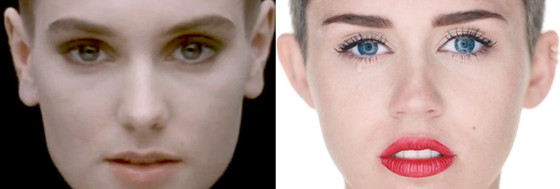 Miley Cyrus, Sinead O'Connor