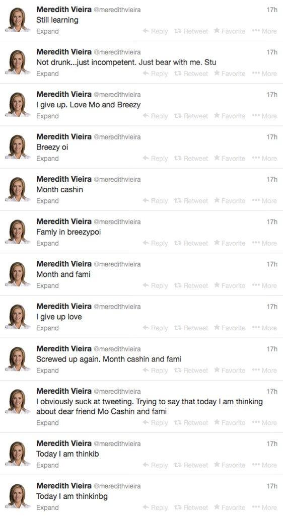 Meredith Vieria, Tweets