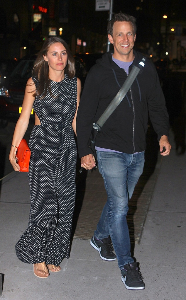 Newlyweds Seth Meyers And Alexi Ashe Step Out For First