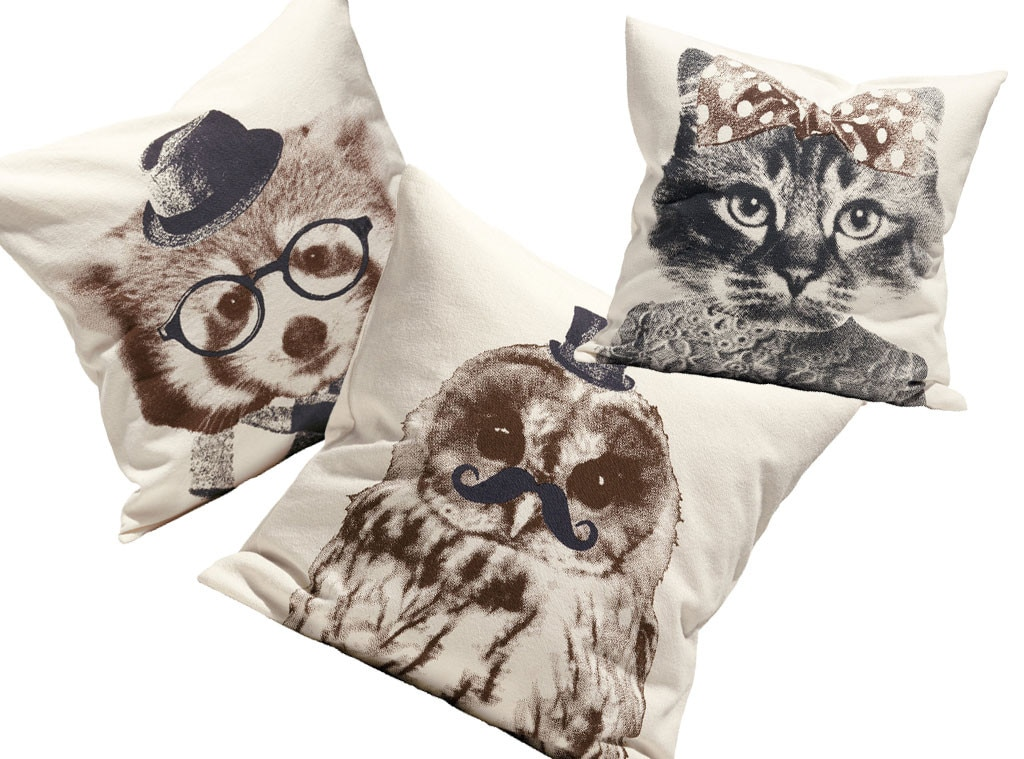 Fall Home Decor, H&M Animal Cushions