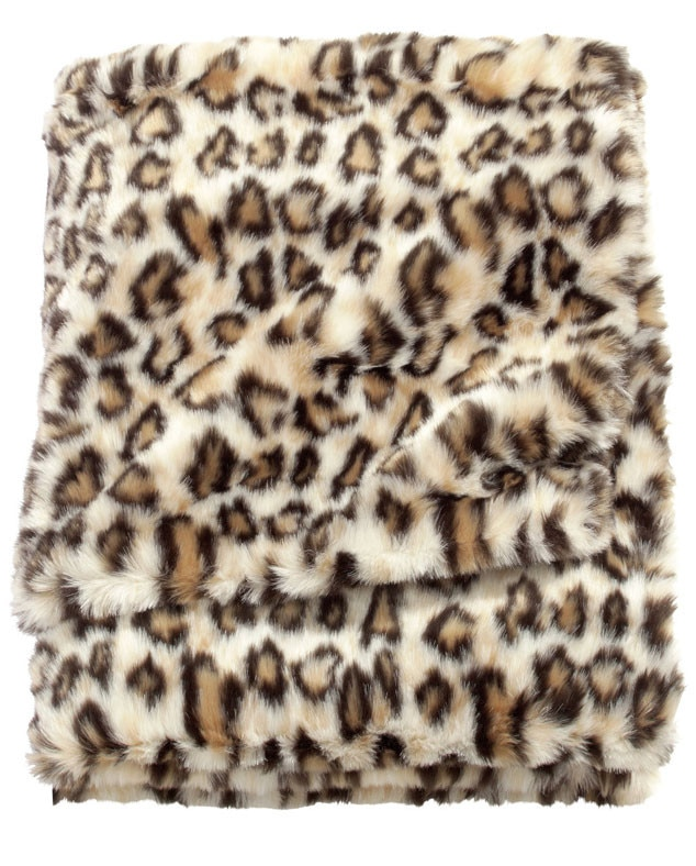 Fall Home Decor, H&M Faux Fur Animal Print Blanket