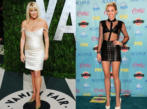 Miley Cyrus, Suzanne Somers