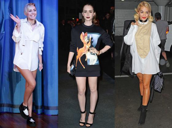 Lily Collins, Rita Ora, Miley Cyrus