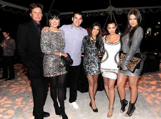 Bruce Jenner, Kris Jenner, Robert Kardashian, Kourtney Kardashian, Kim Kardashian, Khloe Kardashian
