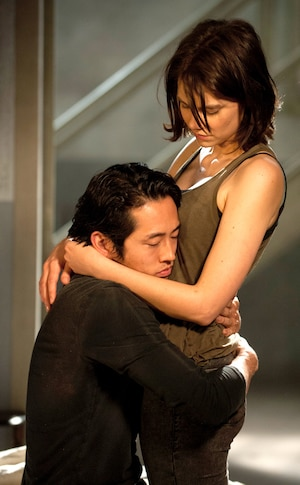 Glenn Rhee, Steven Yeun, Maggie Greene, Lauren Cohan, The Walking Dead