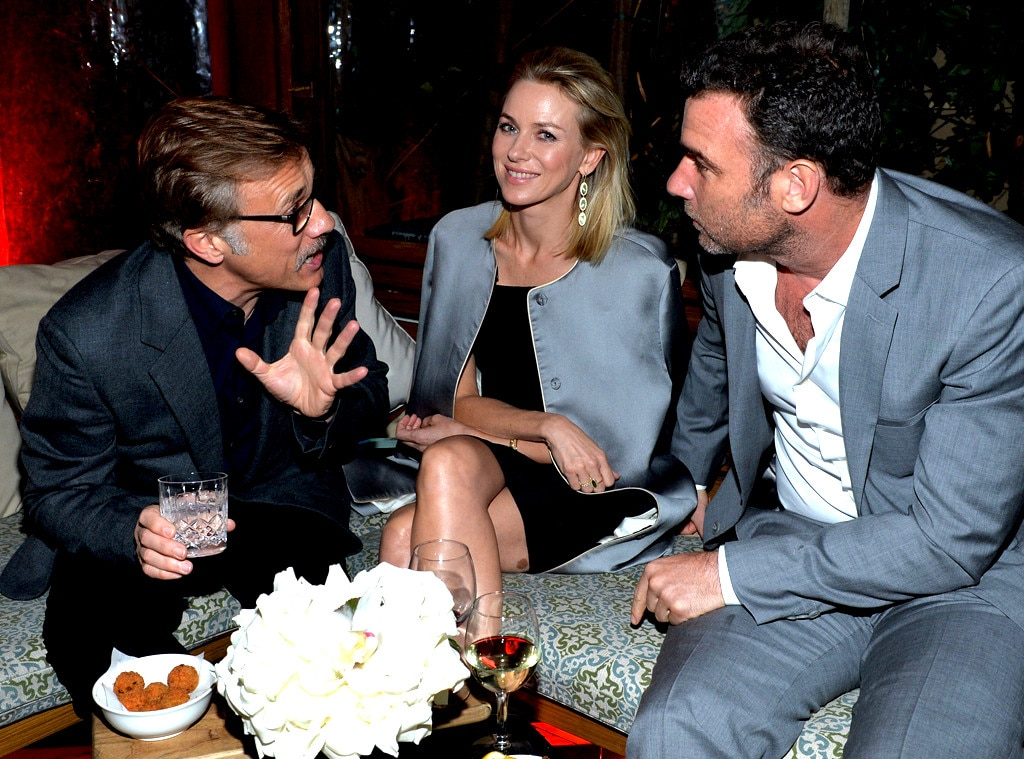 Christoph Waltz, Naomi Watts, and Liev Schreiber, Golden Globes Parties, Audi
