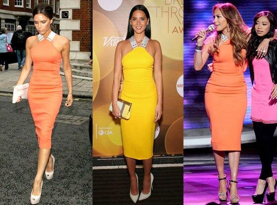 Victoria Beckham, Oliva Munn, Jennifer Lopez