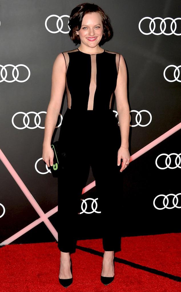 Elisabeth Moss, Golden Globes Parties, Audi