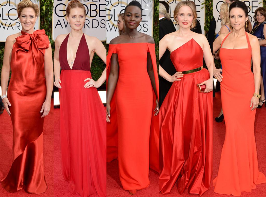 Lupita Nyong'o, Amy Adams, Julia Louis-Dreyfus, Julie Deply, Edie Falco, Golden Globes 2014