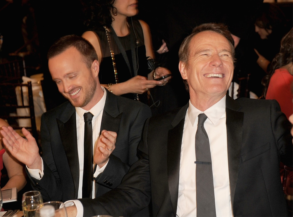 Aaron Paul, Bryan Cranston, Golden Globes 2014
