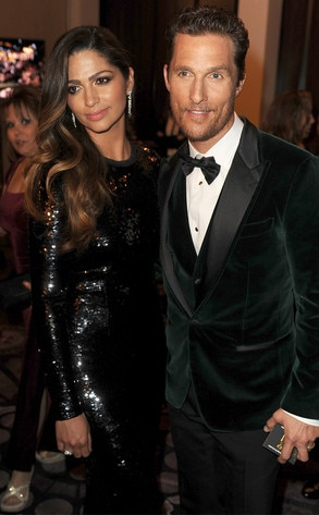 Camila Alves, Matthew McConaughey, Golden Globes 2014