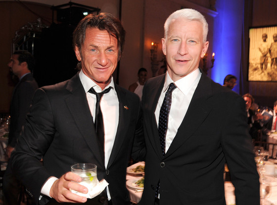 Sean Penn, Anderson Cooper, HHH Gala