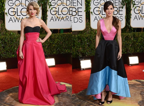 Taylor Swift, Sandra Bullock, Golden Globes 2014