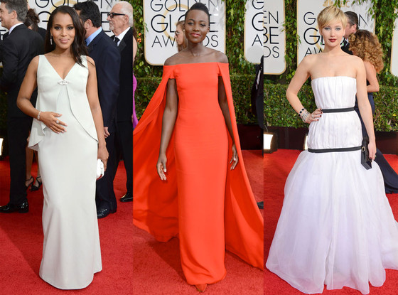 Kerry Washington, Lupita Nyong'o, Jennifer Lawrence, Golden Globes 2014