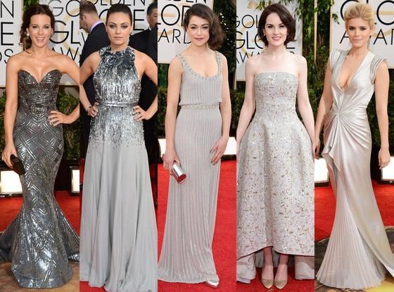 Metallics, Kate Beckinsale, Mila Kunis, Tatiana Maslany, Michelle Dockery, Kate Mara, Golden Globes