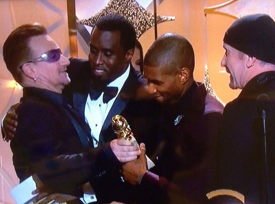 Diddy, Sean Combs, Bono, Golden Globes, Twitter