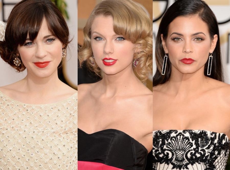 Zooey Deschanel, Taylor Swift, Jenna Dewan, Golden Globes 2014