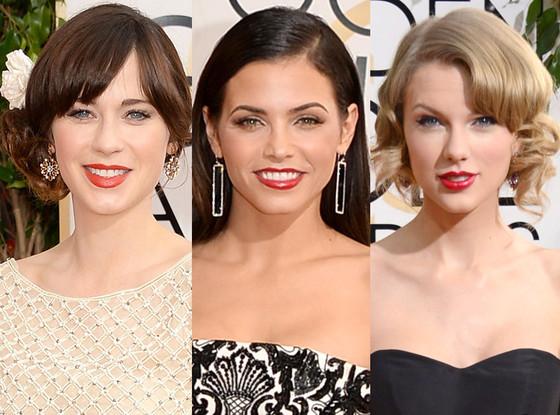 Golden Globe Awards Red Lips