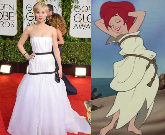 Jennifer Lawrence, Golden Globes 2014, Little Mermaid