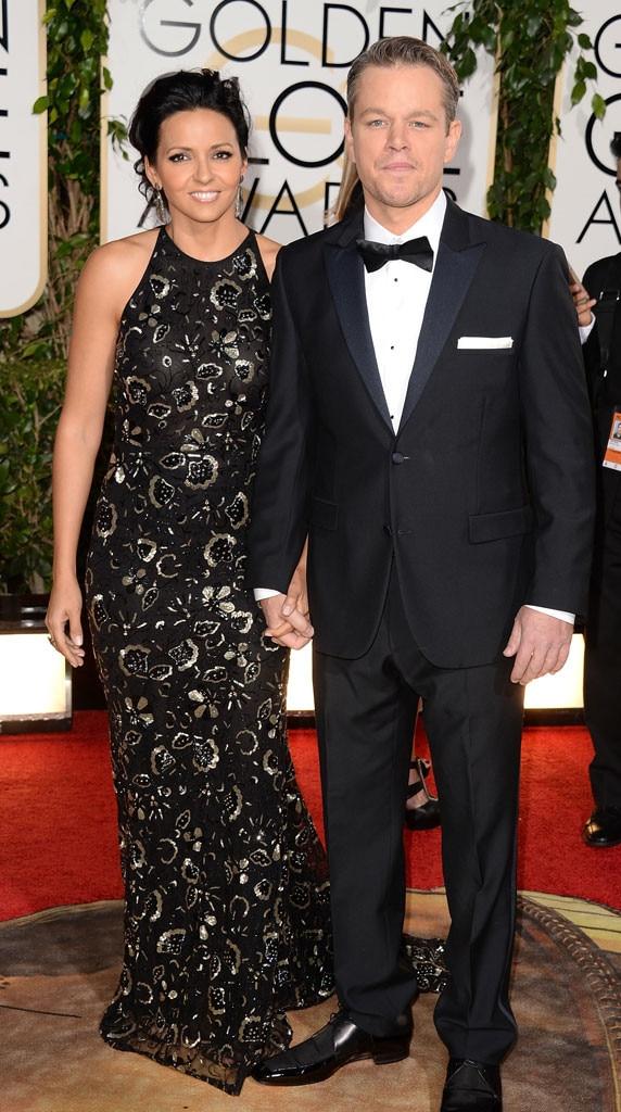 Matt Damon, Luciana Damon, Golden Globe Awards