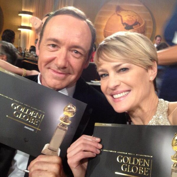 Kevin Spacey, Robin Wright, Twitter