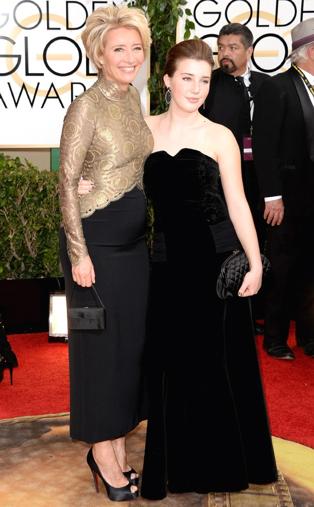 Emma Thompson, Gaia Romilly Wise, Golden Globes
